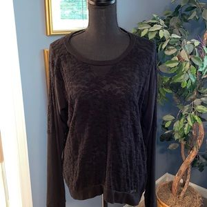 Rue21 Black lace front sweater